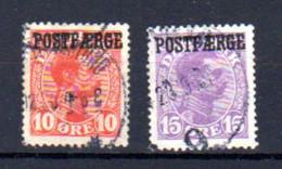 Danemark 1919-22, Christian X, 117 / 118 Ob, Cote 95 € - Gebruikt