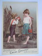Chromo Cacao Grootes Westzaan Kinderen Platteland Enfants à La Campagne Form 10,3 X 15 Cm Heymann & Schmidt Berlin - Andere