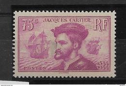 FRANCE   N° 296   NEUF SANS CHARNIERE - Unused Stamps