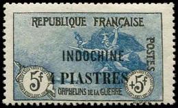 * INDOCHINE -  95 : 4pi. Sur 5f. + 5f. Bleu Et Noir, TB - Ohne Zuordnung