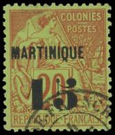 MARTINIQUE -  5 : 15 Sur 20c. Brique S. Vert, Oblitéré, TB - Ohne Zuordnung