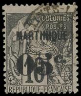 MARTINIQUE -  10 : 05c. Sur 10c. Noir Sur Rose Pâle, Oblitéré, TB - Ohne Zuordnung