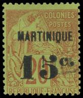 MARTINIQUE -  16 : 15c. Sur 20c. Brique Sur Vert, Obl., TB - Ohne Zuordnung