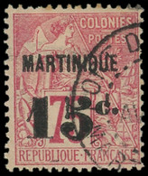 MARTINIQUE -  18 : 15c. Sur 75c. Rose, Obl., TB - Ohne Zuordnung