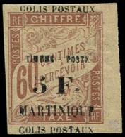 * MARTINIQUE -  60 : 5f. Sur 60c. Brun, Surch. DEPLACEE, COLIS POSTAUX En Haut ET En Bas, Petit Bdf, TB - Ohne Zuordnung