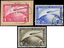 Allemagne, EMPIRE - EMPIRE PA 35/37 : La Série Obl., 1m. Rouge Sur Fragt, TB - Airmail