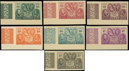 (*) CONGO BELGE -  185/91 : Cinquentenaire Du , NON DENTELES Cdf (6) Et Bdf (1), TB - Unclassified