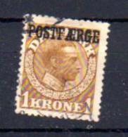 Danemark 1919-22, Christian X, 120 Ob, Cote 155 € - Gebruikt