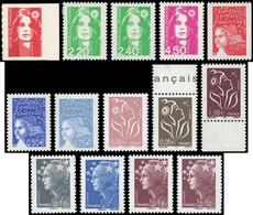 ** Briat, Luquet, Lamouche Et Beaujard, 14 T. SANS PHOSPHO, Tous Différents Et Signés, TB - Collections