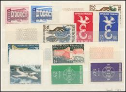 ** Lot De 11 Non Dentelés Entre 1956 Et 1959, Dont Europa 1956 Et 57, TB - Collections