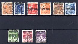 Danemark 1921-38, Christian X, Bateau, Etc, Entre 149 A Et 264 B, Cote 82 €, - Gebruikt