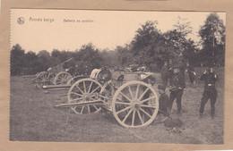 Armée Belge Batterie En Position - Equipment