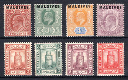 MALEDIVEN, Michel No.: 1-4 MH, Cat. Value: 122€ - Maldives (...-1965)