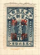 China North Eastern Provinces  Scott J7  1948 Postage Due  10c On 10c Dark Blue,mint - Chine Du Nord-Est 1946-48