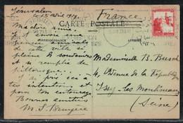 Levant Fair 1929 Machine Postmark Jerusalem British Mandate In Palestine - Palestine