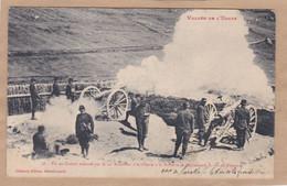 Tir Au Canon Exécuté Par Le 12e Bataillon D'artillerie à La Batterie De Mallémord S.-O. De Viraysse Vallée De L' Ubayk - Equipment