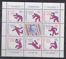 JUGOSLAWIEN  2075-2082, Kleinbogen, Postfrisch **, Medaillengewinner Bei Den Olympischen Sommerspielen Los Angeles, 1984 - Blocks & Kleinbögen