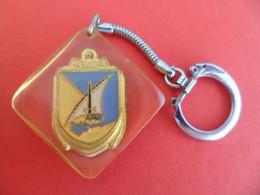 PC Keyring - Style Bourbon - Inclusion Résine - Militaire BCS N° 6 DJIBOUTI CFS - Troupes De Marine - Key-rings