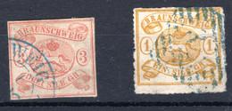 BRAUNSCHWEIG, Michel No.: 3, 14A USED, Cat. Value: 500€ - Brunswick