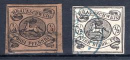 BRAUNSCHWEIG, Michel No.: 4-5 USED, Cat. Value: 770€ - Brunswick