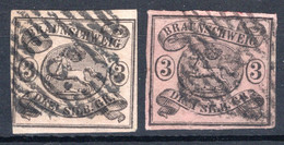 BRAUNSCHWEIG, Michel No.: 8a/b USED, Cat. Value: 330€ - Brunswick