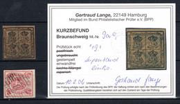 BRAUNSCHWEIG, Michel No.: 9, 12 USED, Cat. Value: 410€ - Brunswick