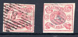 BRAUNSCHWEIG, Michel No.: 12 (2) USED, Cat. Value: 560€ - Brunswick
