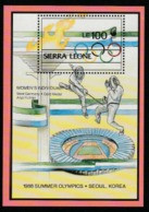 1988 SEOUL OLYMPIC MNH MINI SHEET   FROM SIERRA LEONE/ SPORTS/MEDAL WINNERS-FENCING - Summer 1988: Seoul