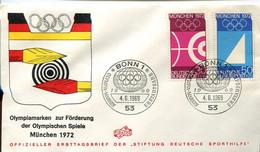 66438 Germany  Fdc 1969 Olympiade Of Munchen 1972 Special Postmark Bonn  4.6.1969 - Ete 1972: Munich