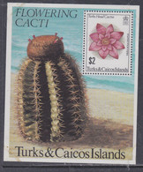 Turks Et Caiques BF N° 31 XX Flore : Cactus à Fleurs,  Le Bloc Sans Charnière, TB - Turks- En Caicoseilanden