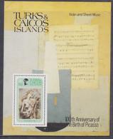 Turks Et Caiques BF N° 32 XX 100è Anniversaire De La Naissance De Pablo Picasso,  Le Bloc Sans Charnière, TB - Turks- En Caicoseilanden