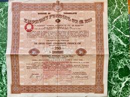 ROYAUME  De  YOUGOSLAVIE  EMPRUNT  INTERNATIONAL  OR  5%  OR  1933 ---------Obligation  De  250 Frs - Unclassified