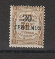 Maroc 1909-10 Timbre Taxe 8 * Charnière MH - Segnatasse
