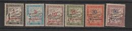 Maroc 1915 Série Taxe 17-22, 6 Val * Charnière MH - Segnatasse