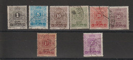 Maroc 1917-26 Série Taxe 27-34, 8 Val Oblit. Used - Segnatasse