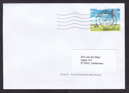 Netherlands: Cover, 2021, 1 Stamp, Kitepower Energy, Wind Mill, Electricity, Innovation, Environment (traces Of Use) - Covers & Documents