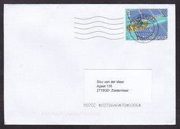 Netherlands: Cover, 2021, 1 Stamp, Floating Solar Panel, Electricity, Energy, Innovation, Environment (traces Of Use) - Covers & Documents