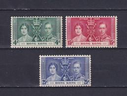 HONG KONG 1937, SG# 137-139, Coronation, MNH - Unused Stamps