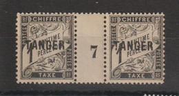Maroc 1918 Millésime Taxe 35 * Charnière Sur Pont MH - Segnatasse