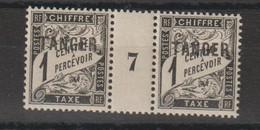 Maroc 1918 Millésime Taxe 35 * Charnière Sur Un Timbre MH - Segnatasse
