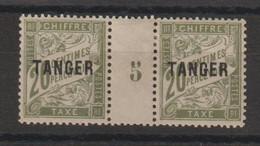 Maroc 1918 Millésime Taxe 39 * Charnière Sur Pont MH Et Petit Aminci - Segnatasse