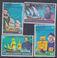 Turks Et Caiques N° 293 / 96 O  Exporateurs, La Série Des 3 Valeurs Oblitérées, TB - Turks- En Caicoseilanden