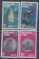 Turks Et Caiques N° 299 / 302 O Chasses Aux Trésors, La Série Des 4 Valeurs Oblitérées, TB - Turks- En Caicoseilanden