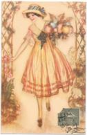 MAUZAN - Jolie Jeune Fille Au Bouquet De Fleurs - Mauzan, L.A.