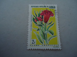 CONGO  USED  STAMPS  FLOWERS - Republic Of Congo (1960-64)