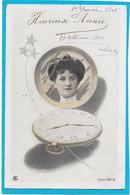 SURREALISME - Portrait Femme Dans Verre De Montre à Gousset - Unclassified