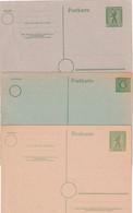 BERLIN ENTIER POSTAL/GANZSACHE/POSTAL STATIONERY   LOT DE 3 CARTES - Postkarten - Ungebraucht