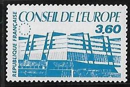 FRANCE  Timbres De Service:Conseil De L'Europe   N°97  Année 1987 - Neufs