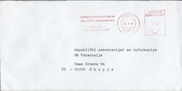 """Germany - Koln Letter 1981 - ATM,Machine Stamp,EMA, Meter Stamp,,Informationzentrum Der Yugoslavia"""" - Affrancature Meccaniche Rosse (EMA)"""