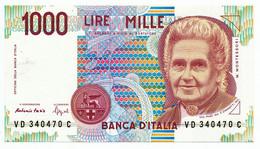 ITALY, ITALIA - 1000 Lire 3. 10. 1990. P114b, UNC. (T076) - 1000 Liras